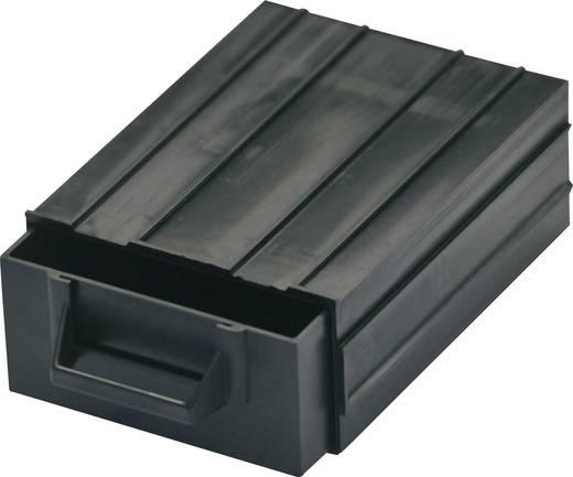 ESD alkatrésztároló doboz, egymásba csúsztatható alkatrésztároló 120 x 87 x 40 mm fekete BJZ C-188 101