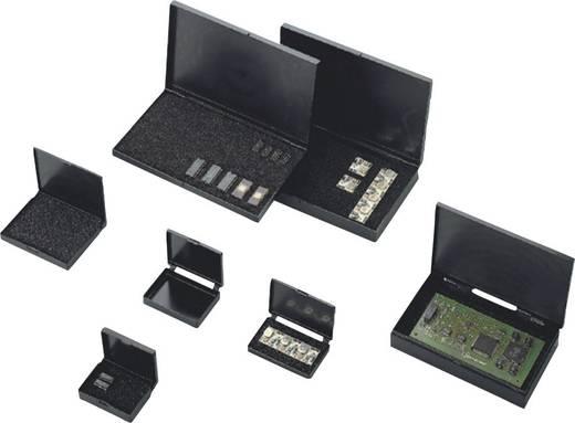 ESD alkatrésztároló doboz habszivacs betéttel 74 x 51 x 21 mm fekete BJZ C-186 203