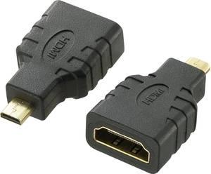 SpeaKa Professional HDMI Átalakító [1x HDMI dugó, D mikro - 1x HDMI alj] Fekete Aranyozatt érintkező, Audio Return Chann SpeaKa Professional