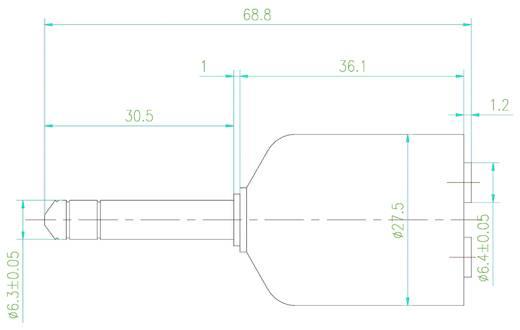 Átalakító, 6,3 mm-es jack dugóról 2 db 6,3 mm-es jack hüvelyre, SpeaKa