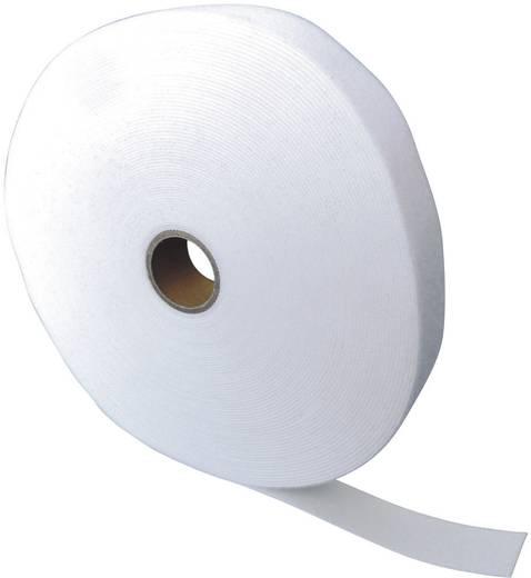 Tépőzár szalag bolyhos és horgos fél, 25 m x 10 mm, fehér, Fastech
