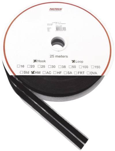 Öntapadó tépőzár szalag, 25 m x 10 mm, fekete, Fastech SBS 1 pár