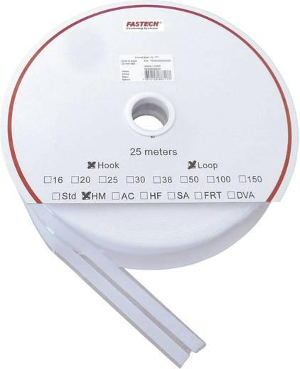 Öntapadó tépőzár szalag, 25 m x 10 mm, fehér, Fastech SBS 1 pár