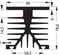 Hűtőborda 1 K/W 100 x 75 x 87 mm, Fischer Elektronik SK 89 100 KL-SSR2 (10022692) Fischer Elektronik