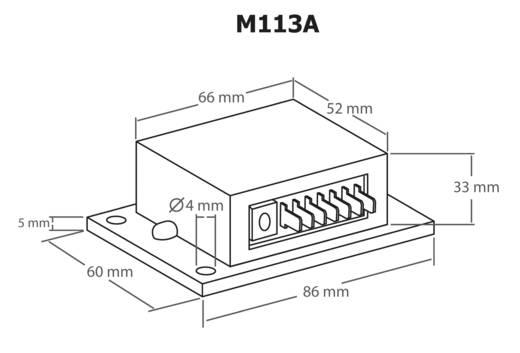 Időkapcsoló modul 12-15V/DC 2s – 23min Kemo Electronic M113A