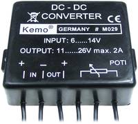 Feszültségátalakító modul max. 2 A, KEMO M029 Kemo
