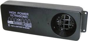 Nagy teljesítményű ultrahangos macska-, menyét- és nyestriasztó modul autóhoz, 6V, max.: 200m, 100 dB, Kemo FG015 (FG015) Kemo