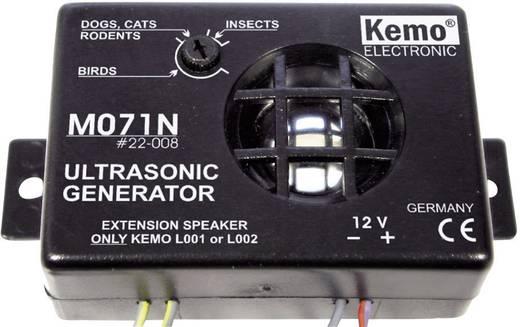 Állítható ultrahangos állatriasztó, kártevőriasztó 12V-os Kemo M071N