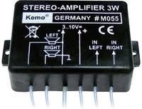 Univerzális sztereó erősítő modul, 9 V/DC, 2 x 1,5 W, KEMO M055 Kemo