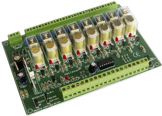 Távírányítható 8 csatornás relékártya építőkészlet, Velleman K8056
