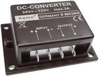 Feszültségváltó modul 24 V/DC-ről 12 V/DC-re, bemenet: 24 - 26 V, kimenet: 12 V, 3 A, KEMO M038N Kemo