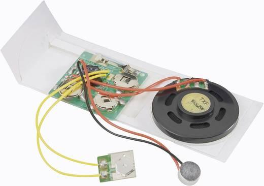 Üdvözlőkártya hangrögzítő modul, 10 s, modul, 4.5 V/DC, felvételi idő 10 s