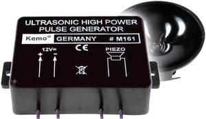 Nagy teljesítményű ultrahangos vaddisznó-, szarvas-, menyét- és nyestriasztó modul, 12V, max.: 300m, 120 dB, Kemo M161 Kemo