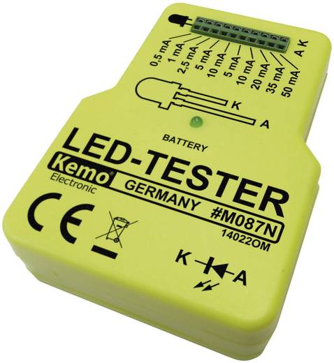 LED teszter 9V/DC Kemo Electronic M087N