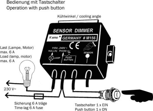 Kemo M156 érzékelős teljesítmény szabályozó, 230V/AC
