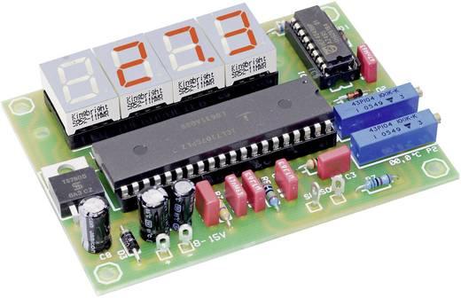 Hőmérő LED kijelzővel, építőkészlet