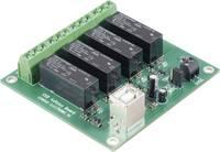 USB-s relékártya, 4 csatornás, Tru Components Conrad Components