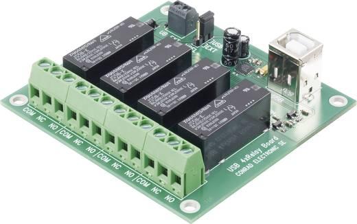 USB-s relékártya, 4 csatornás, Tru Components