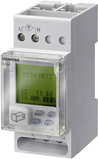 Siemens DIN sínes digitális heti időkapcsoló óra, 1 áramkör, 250V/16A, 56 program, 7LF4421-0