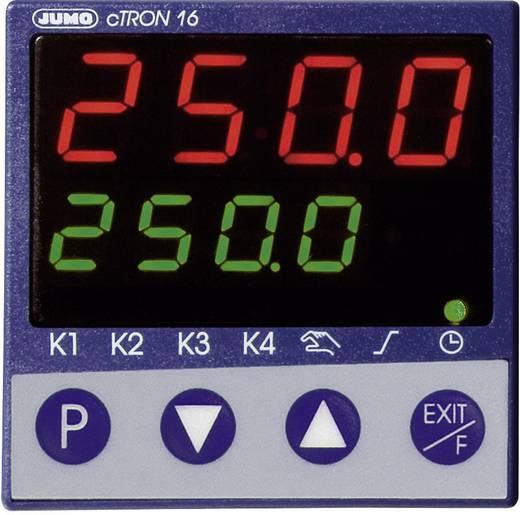 PID Hőmérséklet szabályozó Jumo cTRON16 J, T, K, E, N, S, R, B, Pt100, Pt1000 Relé, 3 A, Tranzisztor (H x Sz x Ma) 90.5 x 48 x 48 mm