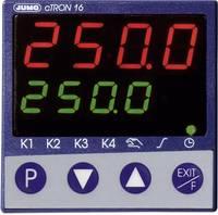 Jumo cTRON16 PID Hőmérséklet szabályozó J, T, K, E, N, S, R, B, Pt100, Pt1000 Relé, 3 A, Tranzisztor (H x Sz x Ma) 90.5 (00495588) Jumo