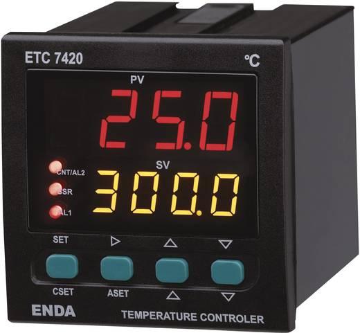 PID Hőmérséklet szabályozó Enda ETC7420 Pt100, J, K, T, S, R Relé, 2 A, SSR (H x Sz x Ma) 101 x 72 x 72 mm