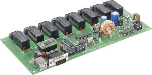 8 csatornás relékártya PC-hez, készre szerelt modul, 230 V/AC 16A