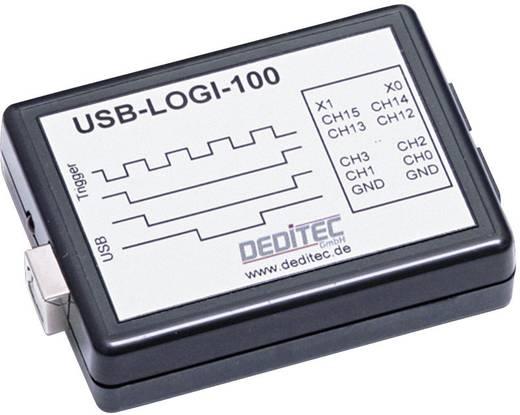 USB-s logikai analizátor 100 MSamples/s, 18 csatorna, Deditec USB-LOGI-100 - PC