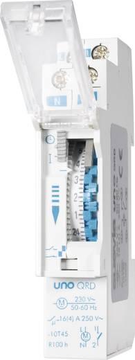 Suevia DIN sínes mechanikus napi időkapcsoló óra, 1 áramkör, 250V/16A, min. 15 perc, UNO QRD