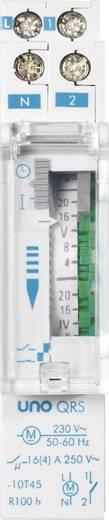 Suevia DIN sínes mechanikus heti időkapcsoló óra, 1 áramkör, 250V/16A, min. 2 óra, UNO QRS