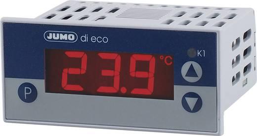 JUMO di eco digitális hőmérsékletjelző műszer 12 - 24 V/DCBeépítési méret 69 x 28,5 mmBeépítési mélység 56 mm<br