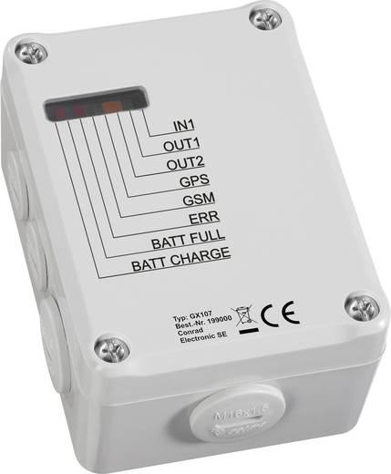 GSM vezérlő és pozíció jelző GPS antennával, Conrad GX107