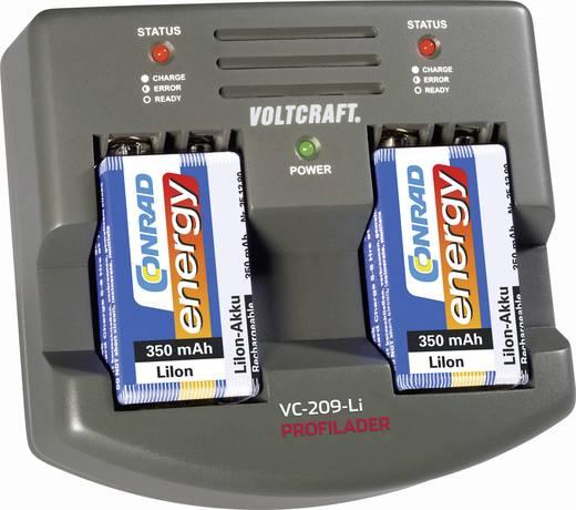 9 V-os lítium ion töltő + 2 db 9 V-os, 350 mAh-s akku Voltcraft