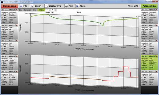 Univerzális akkumulátor töltő, automata akkutöltő állomás Voltcraft Charge Manager 2024