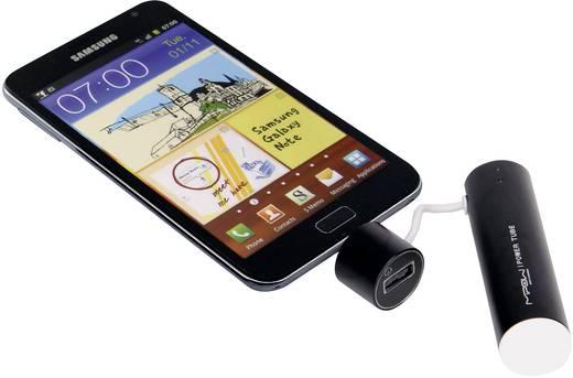 Hordozható mobil tartalék akku, 2600 mAh, MIPOW POWER-TUBE 2600, ezüst