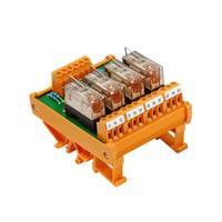 relé panel Beültetett 1 db Weidmüller RSM 4R 24VDC LP GEM.- 1 váltó 24 V/DC Weidmüller