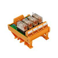 Weidmüller relé panel Beültetett 1 db RSM 4R 24VDC LP GEM.- 1 váltó 24 V/DC Weidmüller