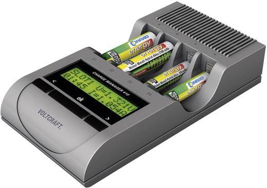 Ceruza AA, mikroceruza AAA automata akkumulátor töltő, regeneráló akkutöltő állomás, NiZn, NiCd, NiMh akkukhoz Voltcraft Charge Manager 410+4db AA NiZn és 4db AAA NiZn akkuval