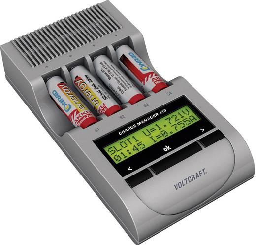 Ceruza AA, mikroceruza AAA NiZn automata akkumulátor töltő, regeneráló akkutöltő állomás Voltcraft Charge Manager 410+20