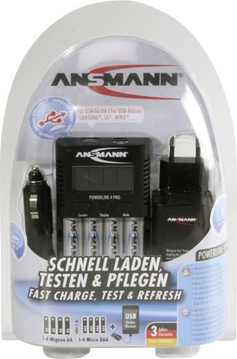Ansmann Powerline 4 Pro Ceruza, mikro ceruza akkutöltő, USB töltő