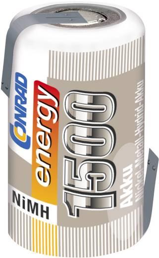 Conrad energy NiMH 2/3 AF egycellás 1.2V / 1500mAh kapacitású forrfüles akkumulátor