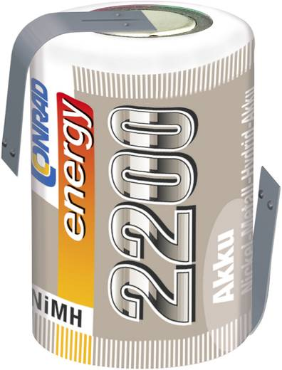 Conrad energy NiMH 4/5 Sub-C egycellás 1.2V / 2200mAh kapacitású forrfüles akkumulátor