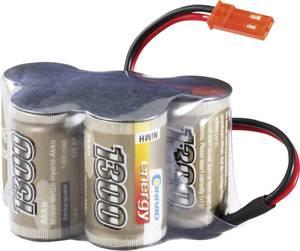 Conrad Energy NiMH 2/3 A 6V / 1300mAh Hump kivitelű BEC csatlakozóval ellátott vevő akkupack Conrad energy