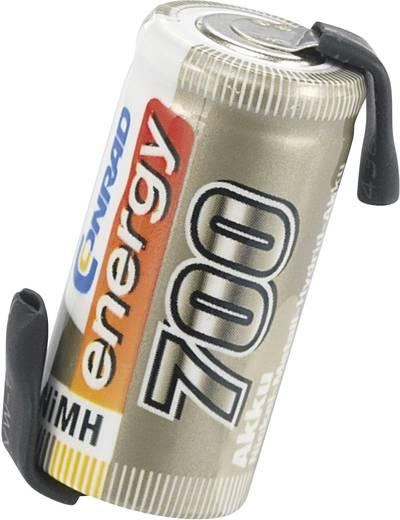 Conrad energy NiMH 2/3 AA egycellás 1.2V / 700mAh kapacitású forrfüles ceruza akkumulátor
