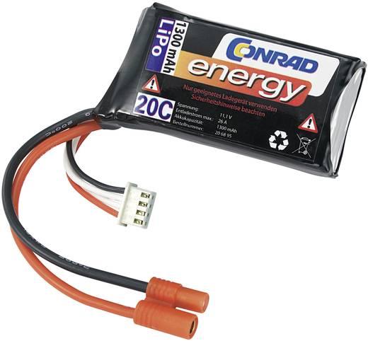 Conrad Energy LiPo 11.1V / 1300mAh (20C) 3,5mm-es csatlakozó aljzattal/XH csatlakozóval ellátott akkupack