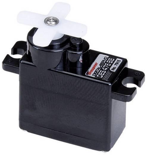 Graupner Mini szervó DES 476 BB Digitális szervó Hajtómű-anyag: szén Dugaszoló rendszer: JR