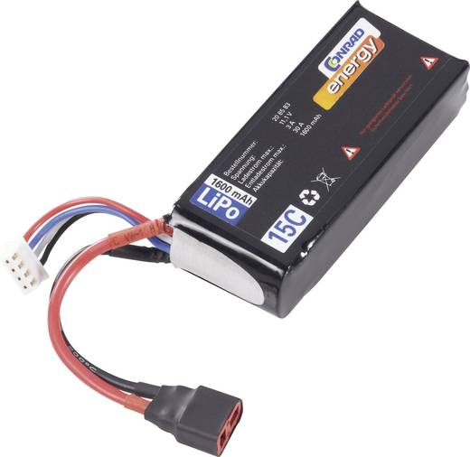 Conrad Energy LiPo 11.1V / 1600mAh (15C) T/XH csatlakozóval ellátott akkupack