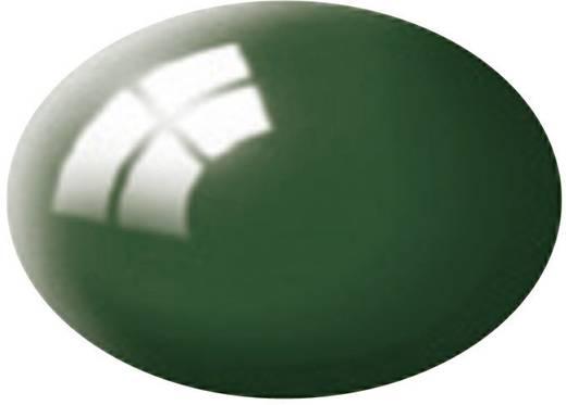 Festék, mohazöld, fényes, színkód: 62 RAL, színkód: 6005, 18 ml, Revell Aqua