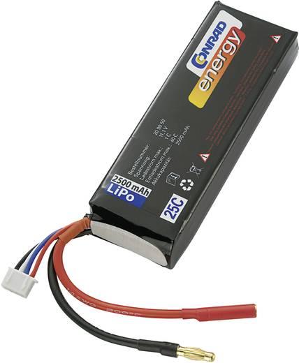 Conrad Energy LiPo 11.1V / 2500mAh (25C) 4mm-es banándugó/XH csatlakozóval ellátott akkupack
