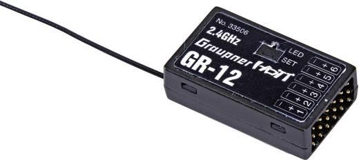 6 csatornás vevő Graupner GR-12 2,4 GHz Duga